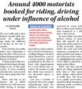 Around 4000 motorists booked for riding, driving under influence of alcohol.jpg -