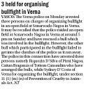 3 held for organising bullfight in Verna.jpg -