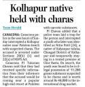 Kolhapur native held with charas.jpg -