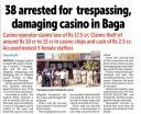 38 arrested for trespassing damaging casino in Baga.jpg -