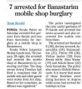 7 arrested for Banastarim mobile shop burglary.jpg -