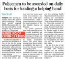 Policemen to be awarded on daily basis for leanding a helping hand.jpg -