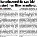 Narcotics worth Rs. 1.20 lakh seized from Nigerian national.JPG -