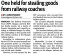 One held for stealing goods from railway coaches.JPG -