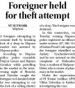 Foreigner held for theft attempt.jpg -