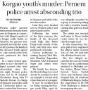Korgao youth's murder Pernem police arrest absconding trio.jpg -