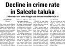 Decline in crime rate in Salcete taluka.jpg -