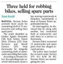 Three held for robbing bikes, selling spare parts.jpg -