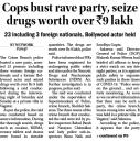 Cops bust rave party, seize drugs worth over Rs. 9 lakh.jpg -