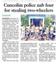 Cuncolim police nab four for stealing two wheelers.jpg -