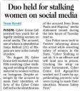 Duo held for stalking women on social media.jpg -
