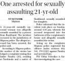 One arrested for sexually assaulting 21 year old.jpg -